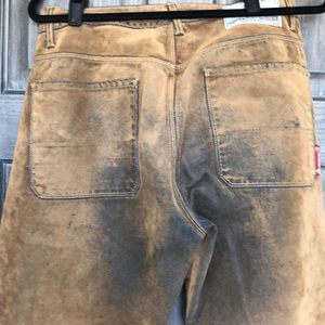 Guess Jeans - Distressed Suede Overlay Denim Guess Jeans 32w